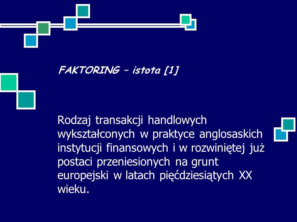 FAKTORING – istota [1]